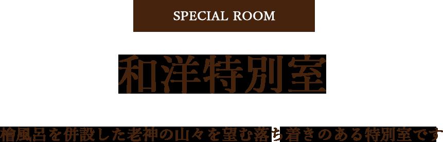 和洋特別室